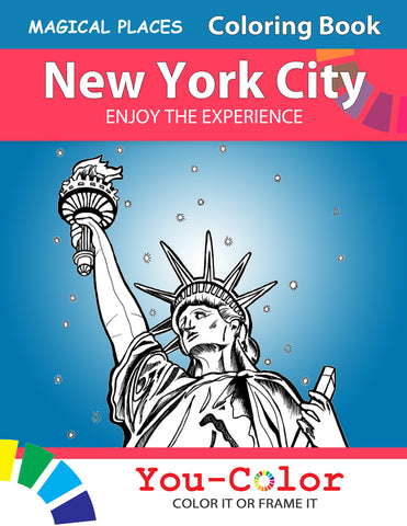 Big New York City Coloring Book: Magical Places Coloring Book