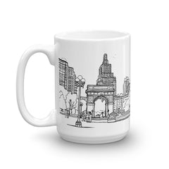 New York Coffee Mug - Washington Square Park, New York - You-Color