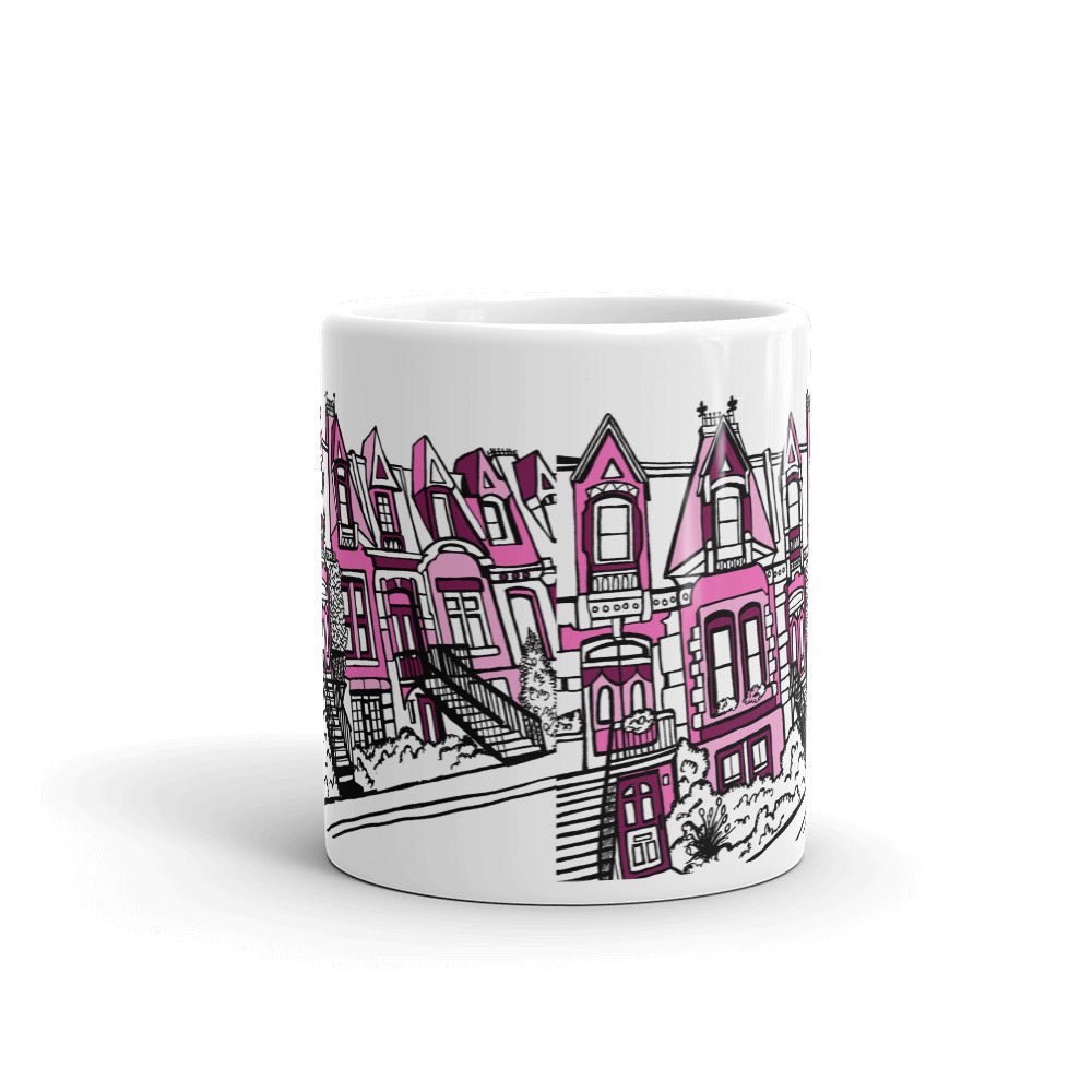Montreal Coffee Mug - Plateau Mont-Royal in PINK - You-Color
