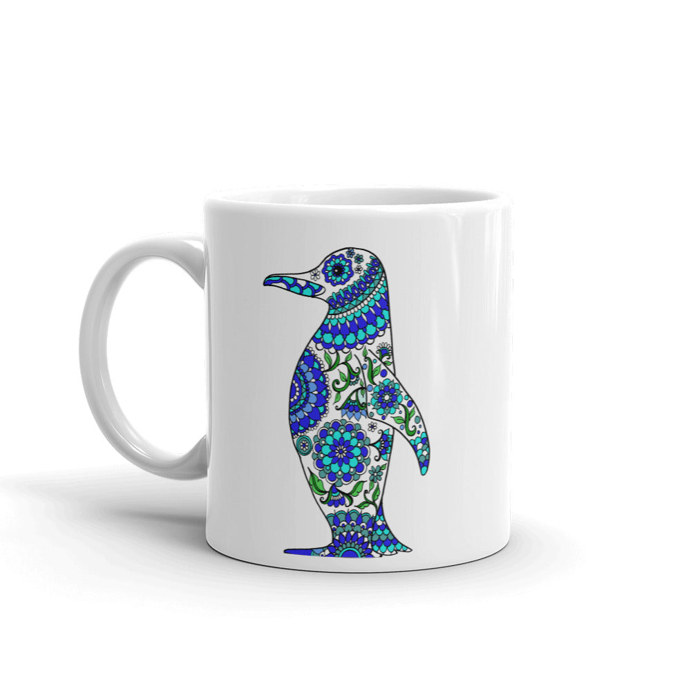 Mandalas Coffee Mug - Emperor Penguin - You-Color