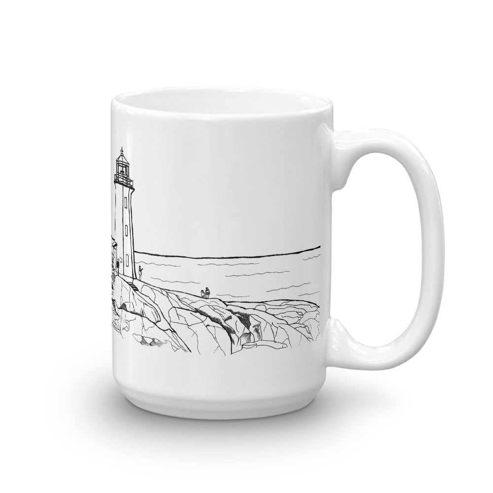 Halifax Coffee Mug - Peggy's Point Lighthouse - You-Color