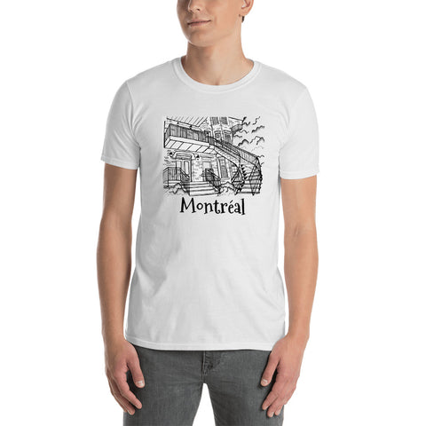 Montreal Typical Stairs Short-Sleeve Unisex T-Shirt - You-Color