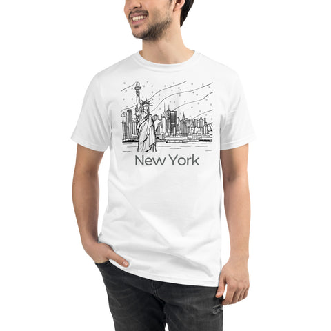 New York Liberty View Organic T-Shirt - You-Color