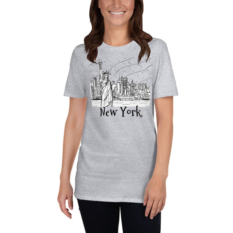 Statue of Liberty NY Short-Sleeve Unisex T-Shirt - You-Color