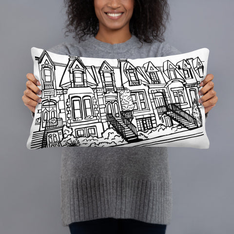 Montreal 2 side Throw Pillows - You-Color