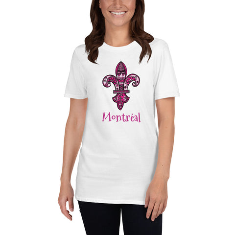 Montreal Pink Fleur de Lys Short-Sleeve Unisex T-Shirt - You-Color