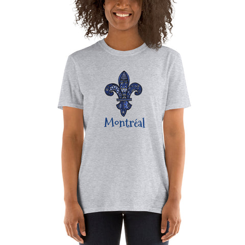 Montréal Fleur De Lys Short-Sleeve Unisex T-Shirt - You-Color