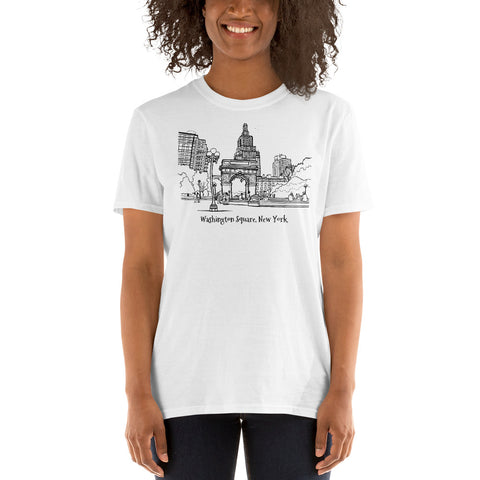 Washington Square, New York Short-Sleeve Unisex T-Shirt - You-Color