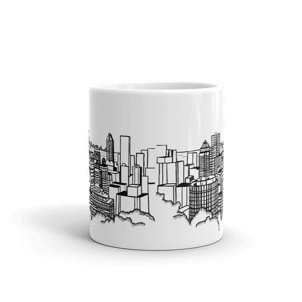 Montreal Coffee Mug - Downtown View from Mont-Royal - You-Color