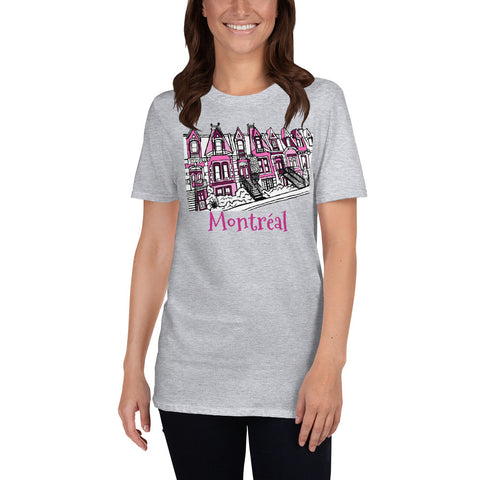 Montreal Square St-Louis Plateau Mont-Royal Short-Sleeve Unisex T-Shirt - You-Color