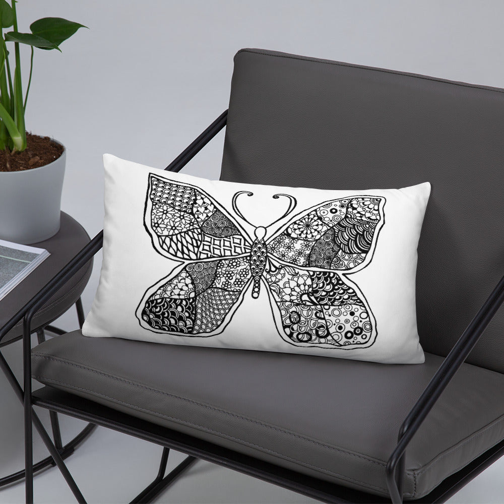 Butterfly Effect Mandala Throw Pillows - You-Color