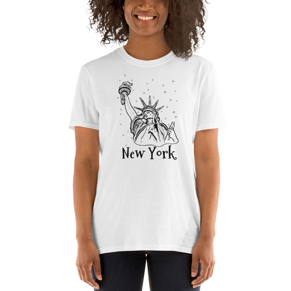 Statue of Liberty Close up NY Short-Sleeve Unisex T-Shirt - You-Color