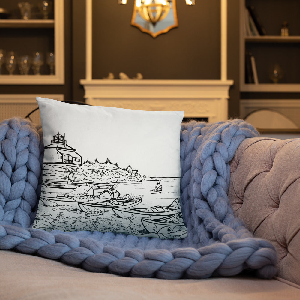 Halifax 2 sided art Throw Pillows - You-Color