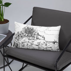 Quebec Chateau Frontenac Throw Pillow - You-Color