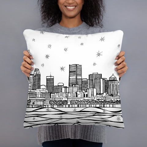 Montreal Old Port Throw Pillows - You-Color