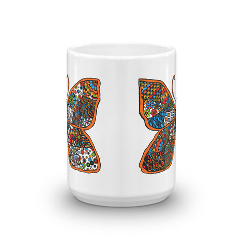 Mandalas Coffee Mug - Colorful Butterfly - You-Color