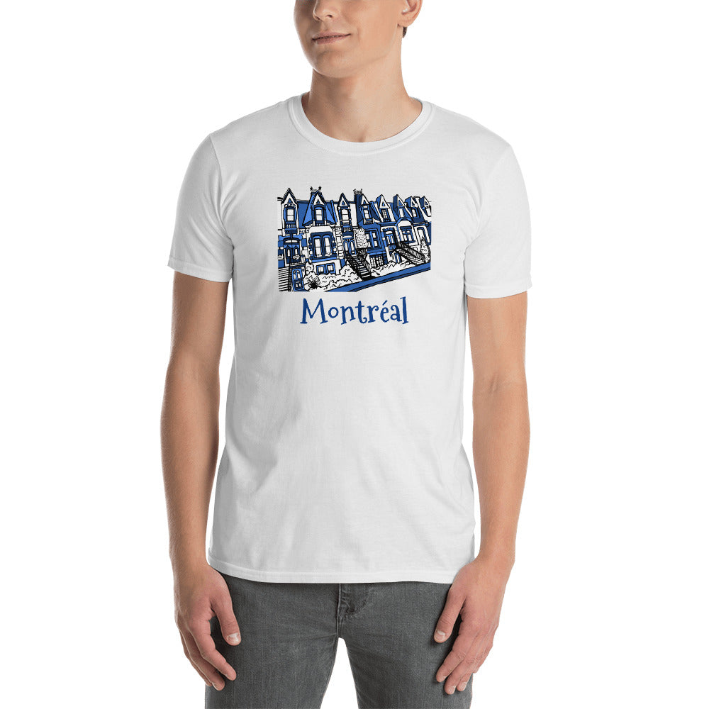 Montreal Carré St-Louis Plateau Neighborhood BLUES Short-Sleeve Unisex T-Shirt - You-Color