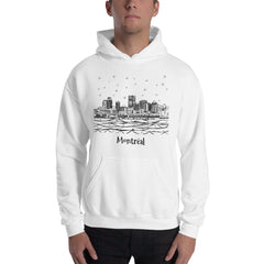 Montreal Downtown Sky Full of Stars Hooded Sweatshirt - You-Color