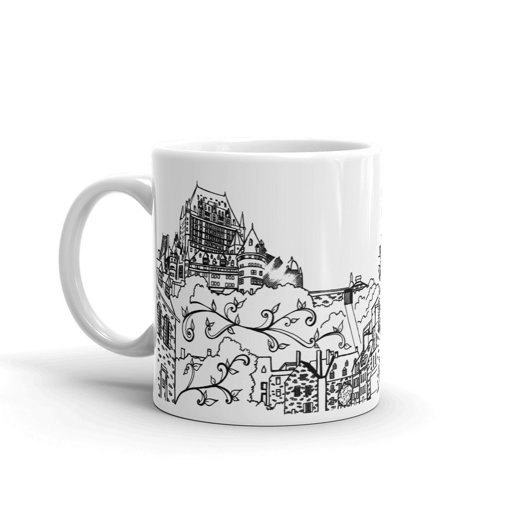 Quebec Coffee Mugs - Chateau Frontenac Town - You-Color