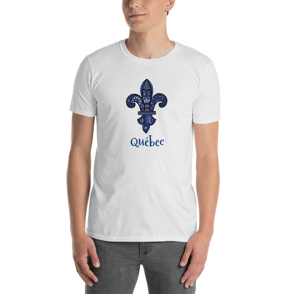 Quebec Fleur de Lys Short-Sleeve Unisex T-Shirt - You-Color