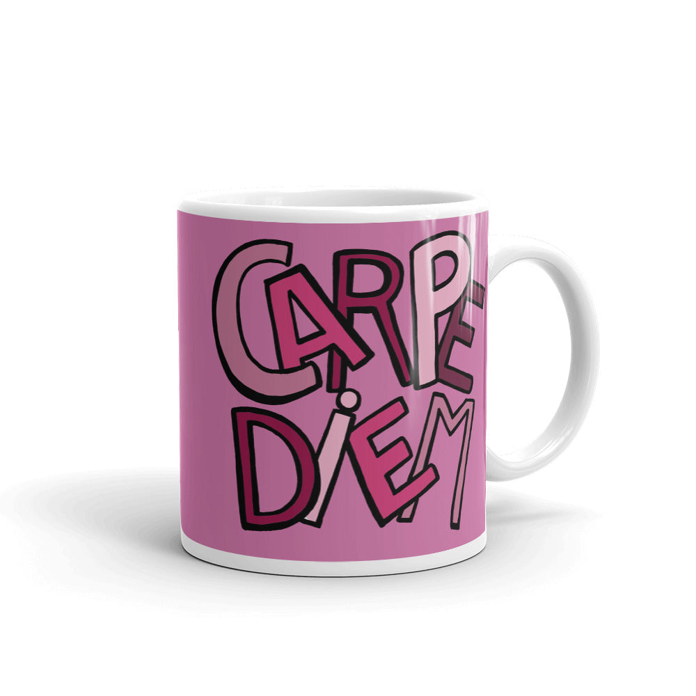 Mandalas Coffee Mugs - Carpe Diem Pink - You-Color