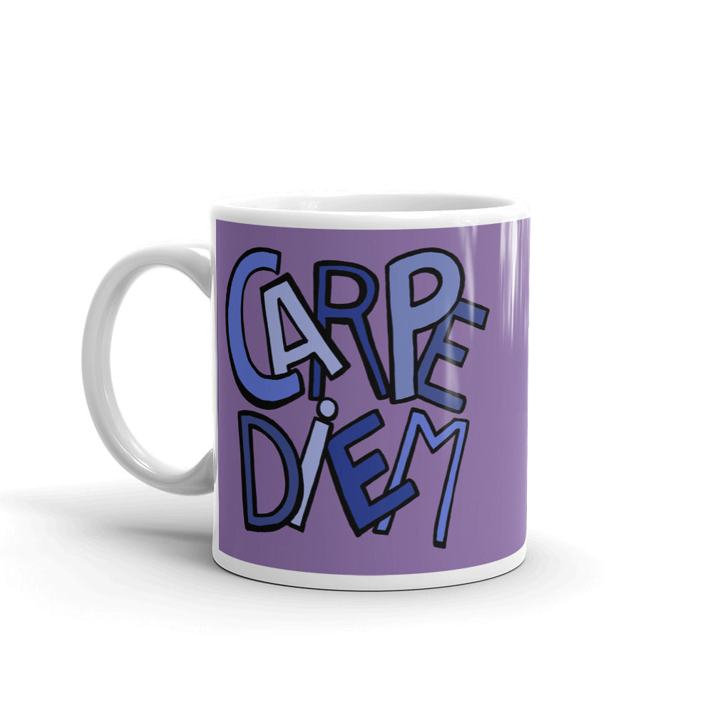 Mandalas Carpe Diem Purple Coffee Mugs - You-Color