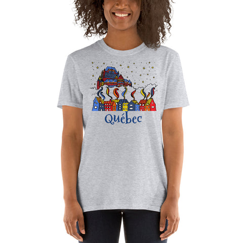 Magic and Colors Québec Chateau Frontenac Short-Sleeve Unisex T-Shirt - You-Color