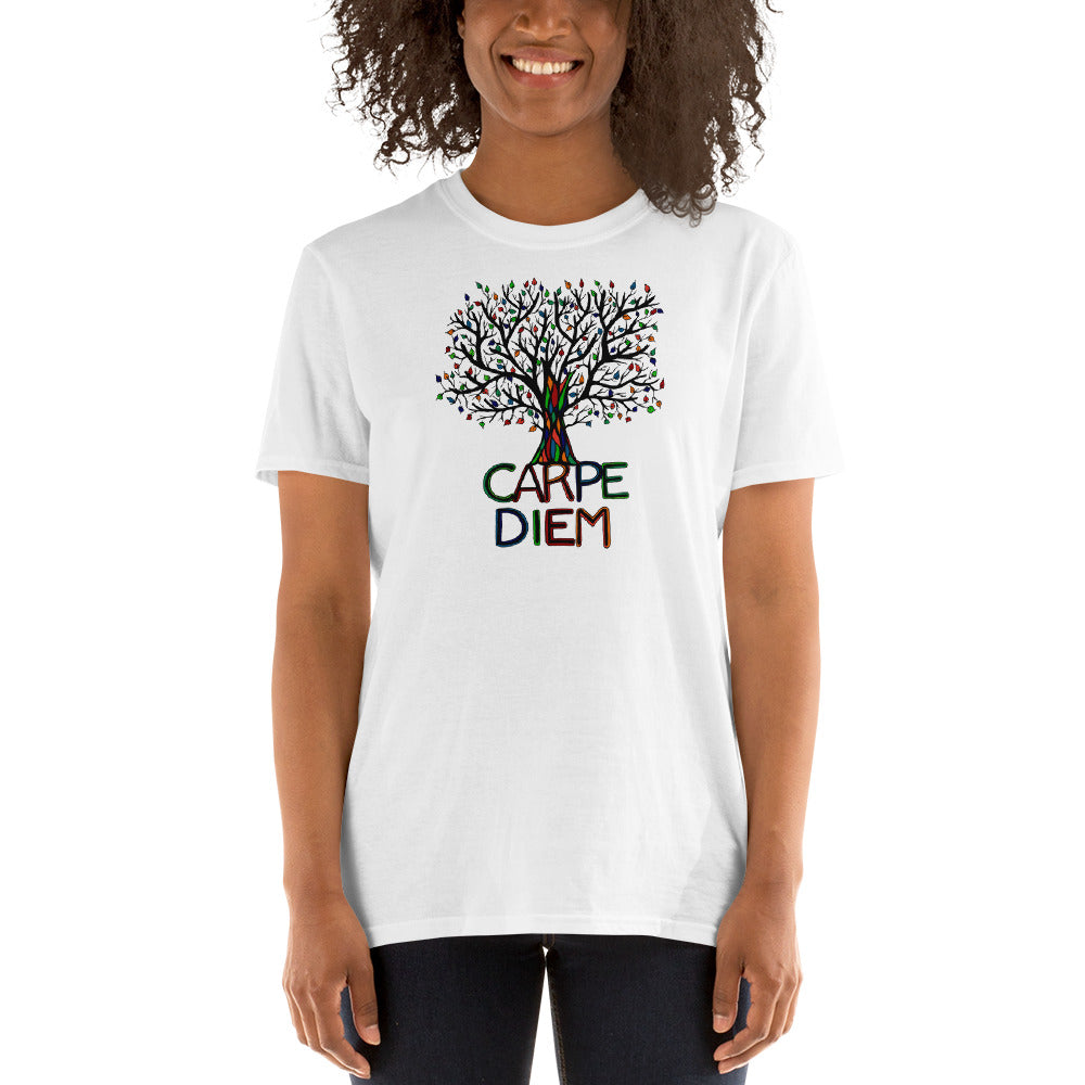 Carpe Diem with YOU-COLOR Short-Sleeve Unisex T-Shirt - You-Color