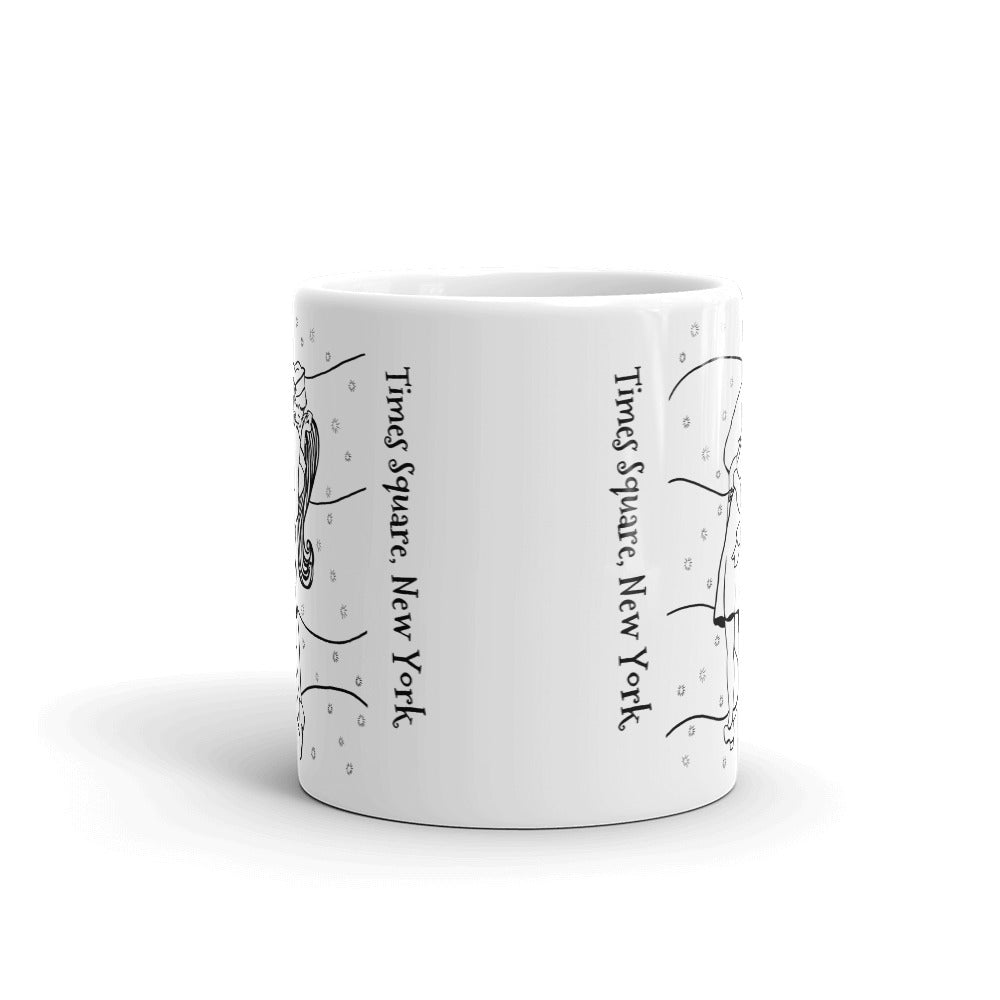 New York Coffee Mug - Famous Kiss in Times Square - You-Color