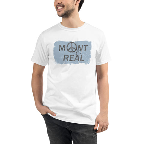Montreal Retro Blue Haze Organic T-Shirt - You-Color
