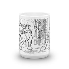 New York Coffee Mugs - Bull Market Statue - You-Color