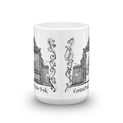 New York Coffee Mug - Entrance to the Conservatory Gardens, Central Park - You-Color
