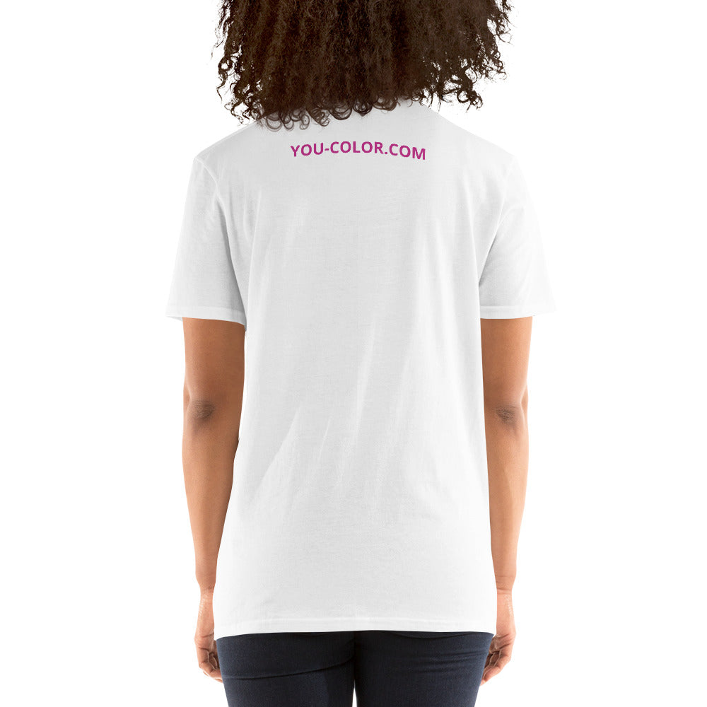 Montréal in Pink with YOU-COLOR.COM Short-Sleeve Unisex T-Shirt - You-Color