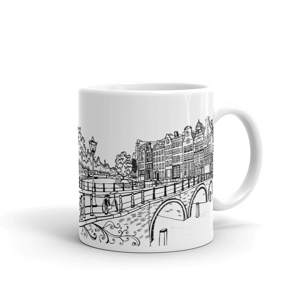Amsterdam Coffee Mug - Emperor's canal (Keizersgracht) and Leidse canal (Leidsegracht) - You-Color