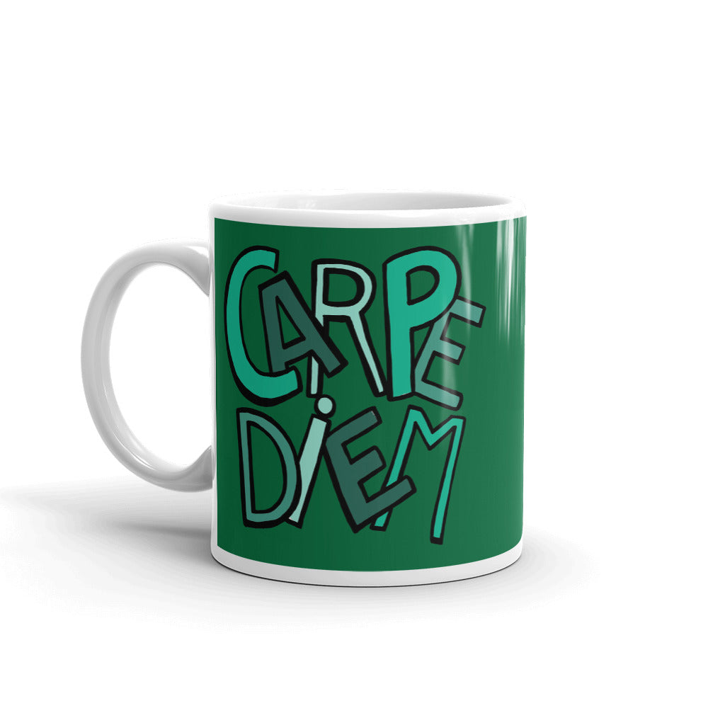 Mandalas Coffee Mugs Carpe Diem - Green - You-Color