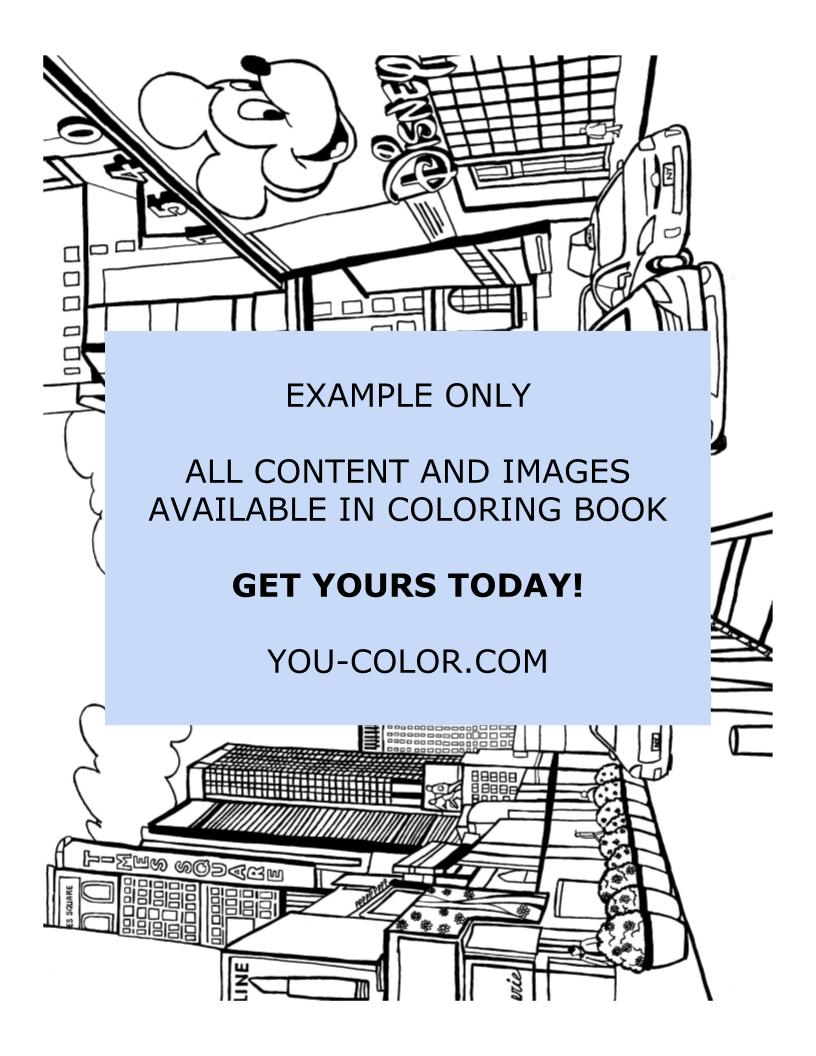 Times Square New York - Coloring Page