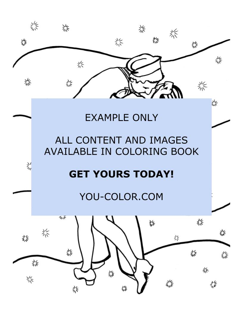 The Famous Kiss - Coloring Page