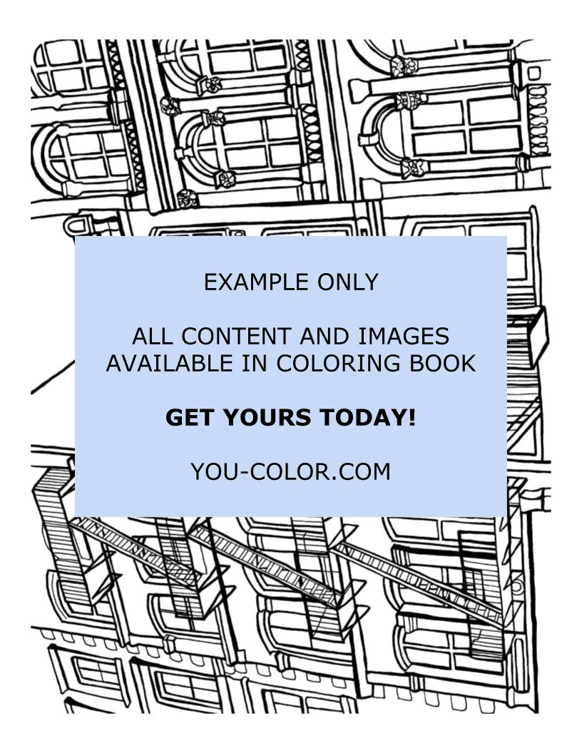 Soho Cast Iron Building - Coloring Page