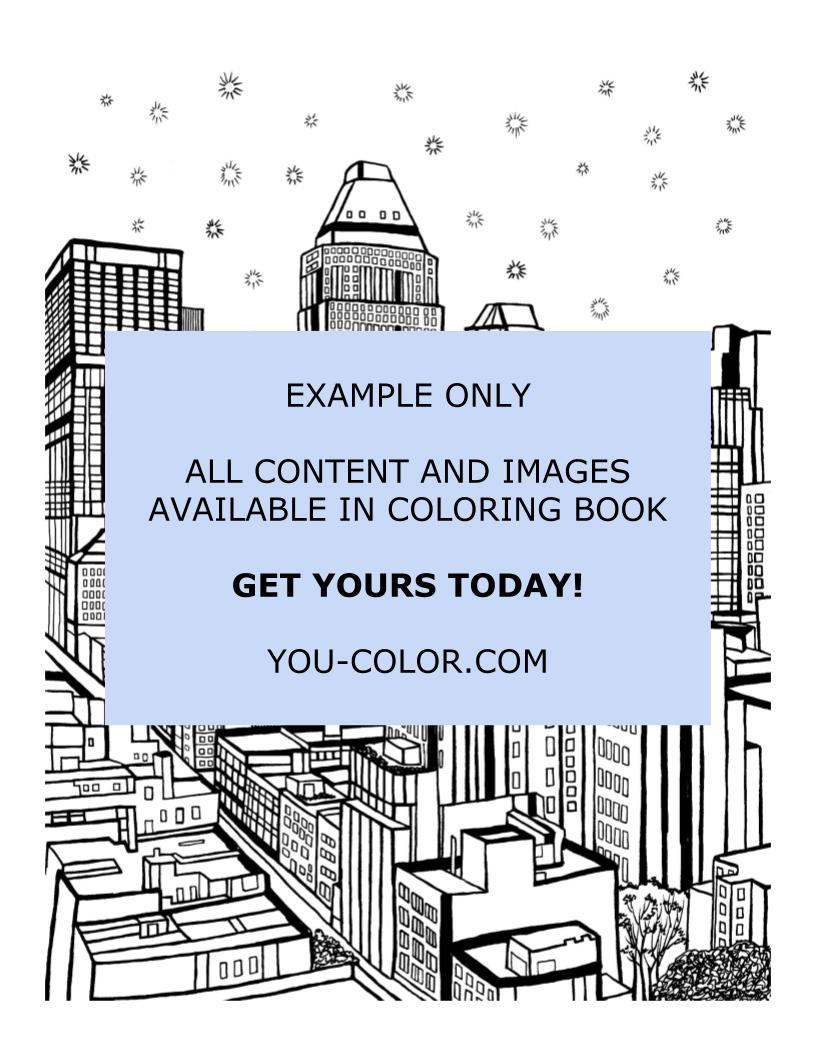 Midtown Manhattan - Coloring Page