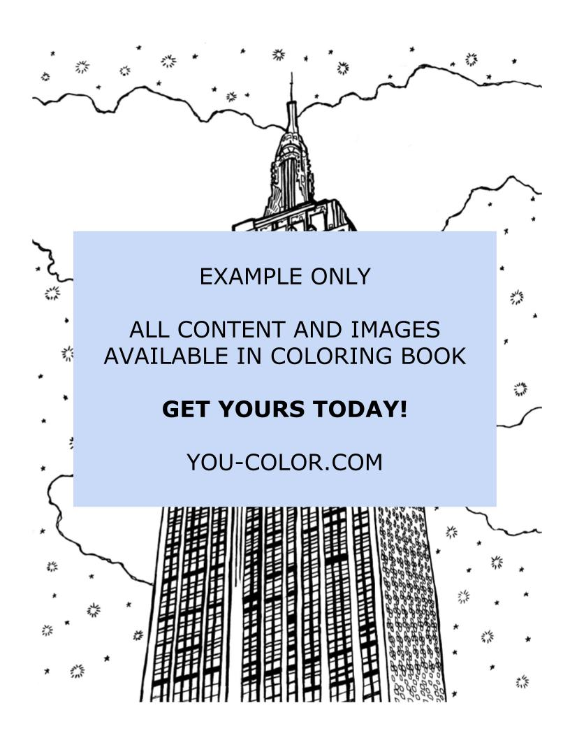 The Empire State Building - Coloring Page