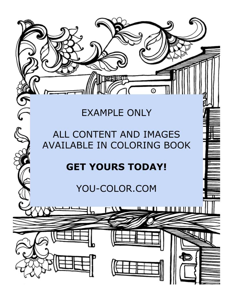 Breakfast at Tiffany's Apartment - Coloring Page