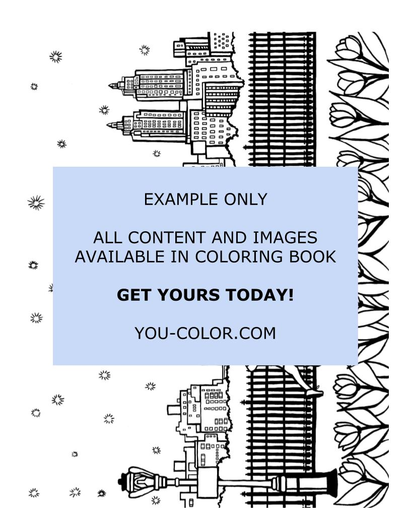 Illustration:Running in Central Park - Coloring Page