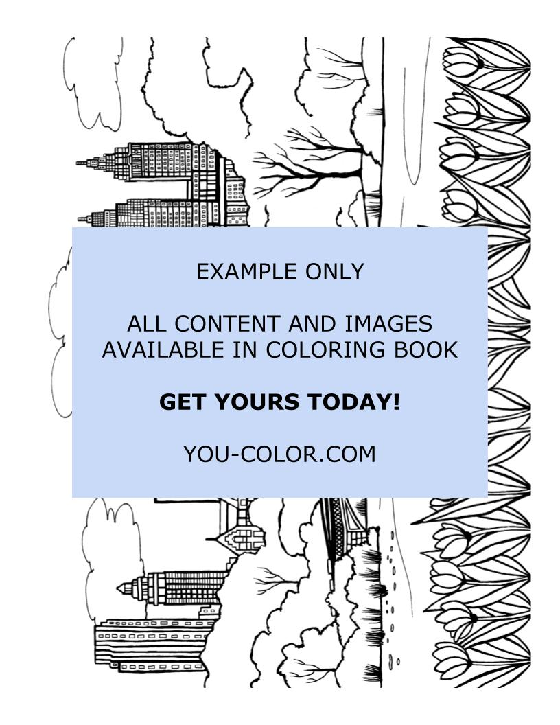 Central Park Activities - Coloring Page