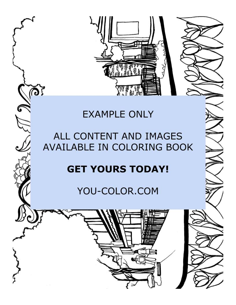Living in New York - Coloring Page