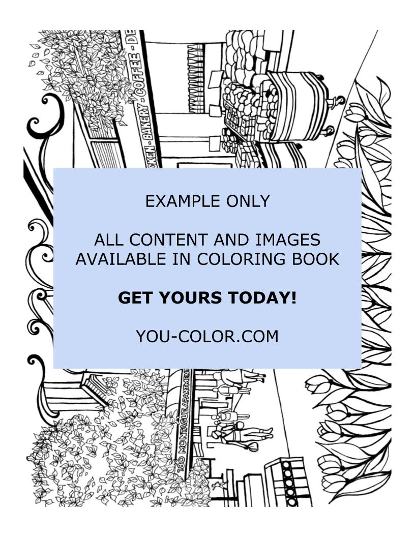 Montague Street Brooklyn - Coloring Page
