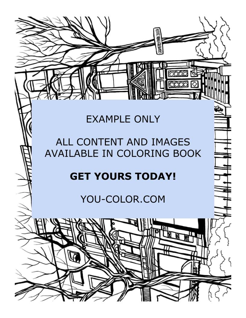 Gramercy Park - Coloring Page