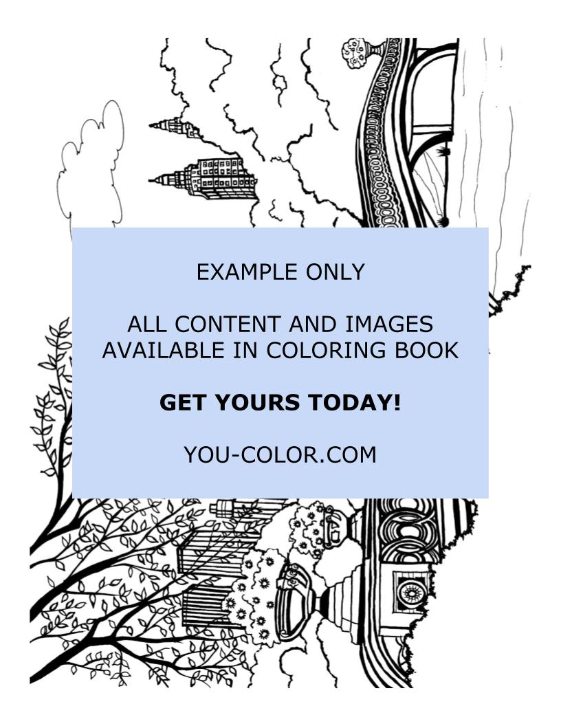 The Bow Bridge - Coloring Page
