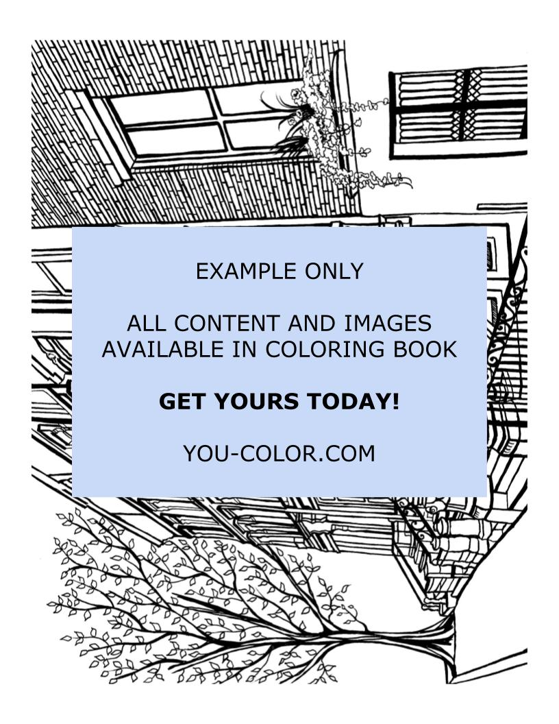 Cobble Hill Brooklyn - Coloring Page