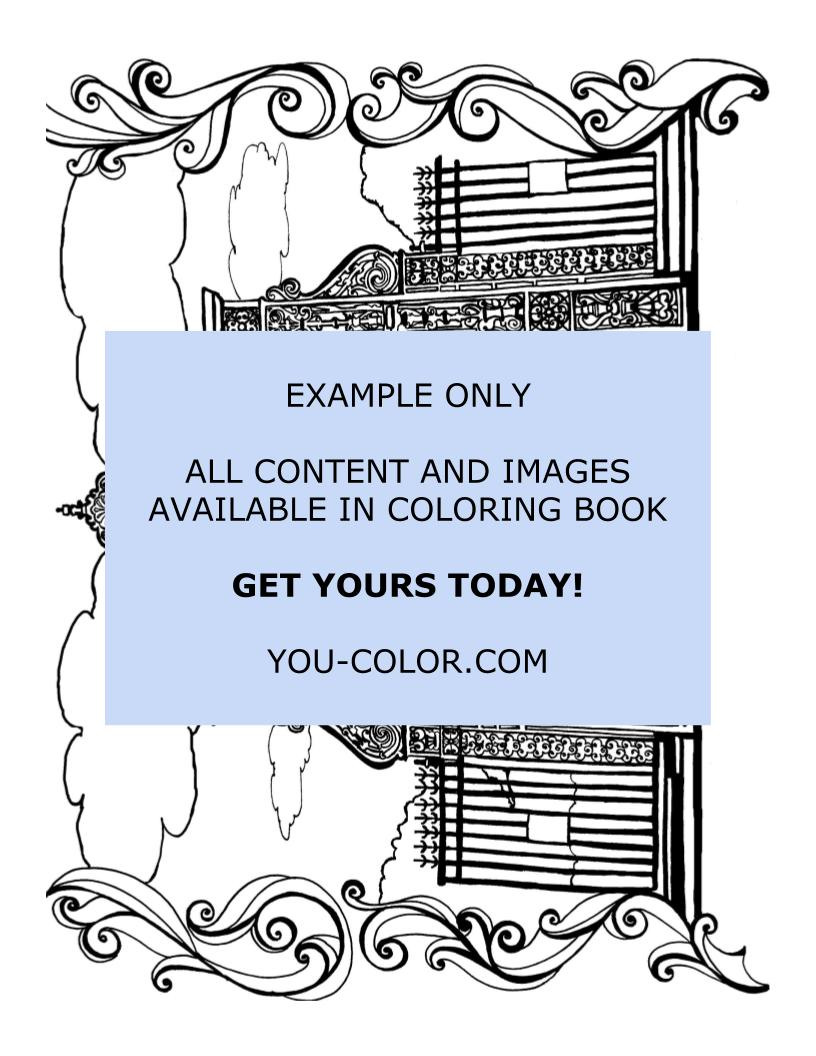Conservatory Garden - Coloring Page