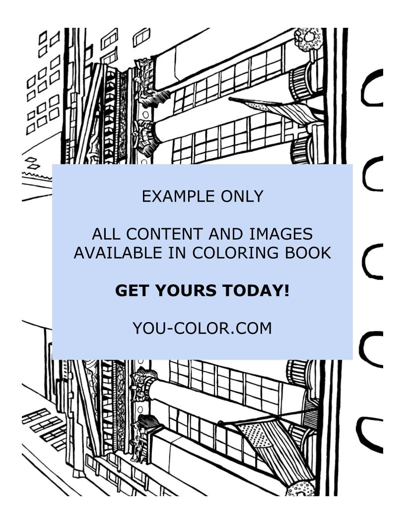 The New York Stock Exchange - Coloring Page
